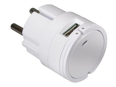 COMPACTE LADER MET DUBBELE USB-AANSLUITING  5 V - 2.1 A MAX. (2.1 A OF 2 x 1 A) - WIT (PSSEUSB17W)