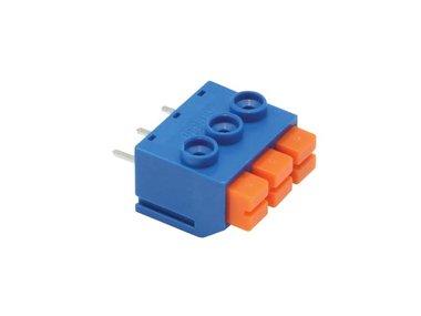SCREWLESS TERMINAL, 3 POLES, BLUE, 5mm PITCH (SCREW03SLB)