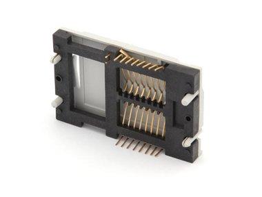 CONNECTOR VOOR CHIPKAARTLEZER - 16 PIN AANSLUITING MET VERGULDE CONTACTEN (SOCKICC2G)