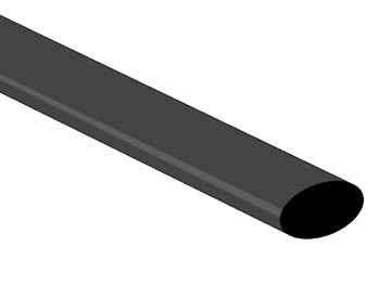 THERMISCHE KRIMPKOUS 9.5mm - ZWART - 25 ST. (STB95BK)