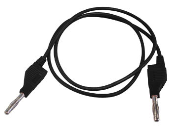 MEETSNOEREN (SPUITGEGOTEN BANAANPLUGGEN 4mm) / ZWART (TLM8B)