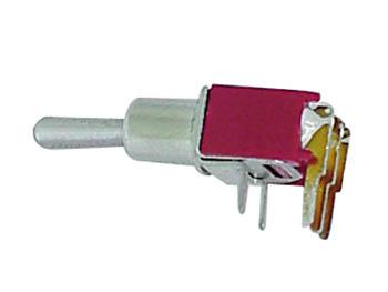 HAAKSE HORIZONTALE SUBMINIATUUR TUIMELSCHAKELAAR SPDT ON-ON - GEEN SCHROEFDRAAD (TS-6)
