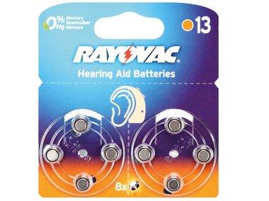RAYOVAC ZINC AIR KNOOPCEL 1.45V-290mAh 4606.745.418 (8st/bl) (V13R)