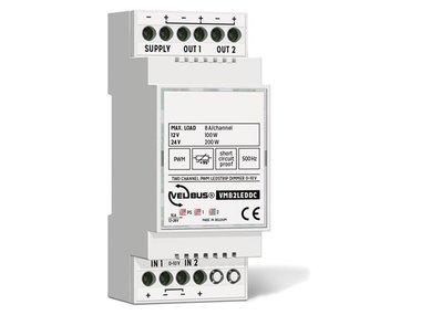 2-kanaals 0-10 V gestuurde PWM-dimmer voor ledstrips (VMB2LEDDC)