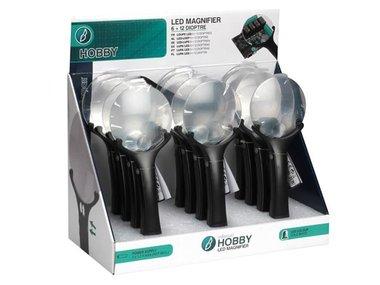 LED-LOEP - 6 + 12 DIOPTRIE - 12 st. IN DISPLAY (VTMG14D)