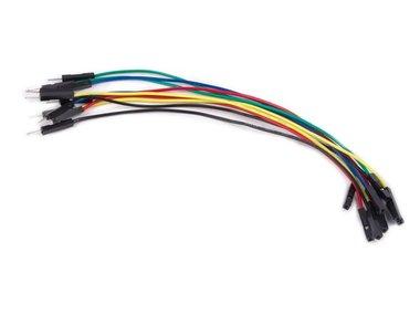 SET DRAADBRUGGEN - 1 pin MANNELIJK NAAR VROUWELIJK - 5.9 (15 cm) - 10 st. (WJW011)