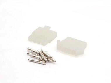 SET VAN MULTIFUNCTIONELE CONNECTOREN 6.2mm / 1 x 4 POLEN (WTWCS1X4)