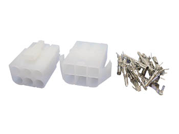 SET VAN MULTIFUNCTIONELE CONNECTOREN 6.2mm / 2 X 3 POLEN (WTWCS2X3)