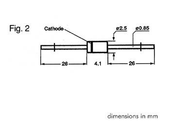 ZENER DIODE 2V7 - 1.3W (ZB2V7)