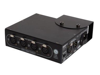 4-WEG DMX-SPLITTER - COMPACTE BEHUIZING (HQDB10001)