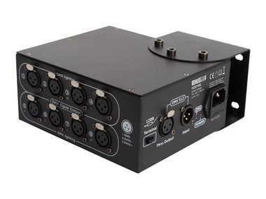 8-WEG DMX-SPLITTER - COMPACTE BEHUIZING (HQDB10002)