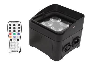 LED-VLOER / TRUSS-SPOT - 4 x 4 W RGB-UV - ZWART (HQLP10032)