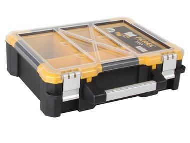 PLASTIC OPBERGKOFFER MET VERWIJDERBARE BAKJES - 380 x 340 x 110 mm (OSC15)