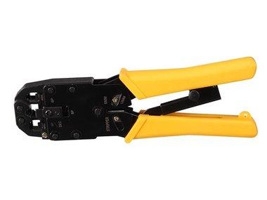 PROFESSIONELE KRIMPTANG VOOR MODULAIRE CONNECTOREN RJ10 - RJ11 - RJ12 - RJ45 (VTM468PN)
