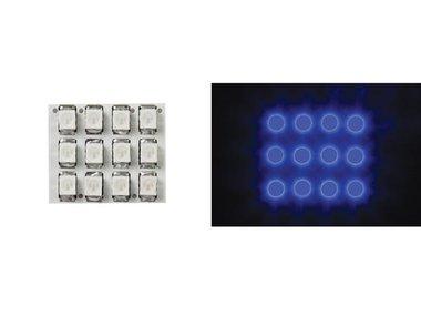 VERLICHTINGSMODULE - BLAUWE LEDS MET RONDE DIFFUSER - 12V - 17 x 20mm (LAMPL1720B)