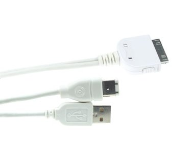 Y-KABEL - DOCK CONNECTOR NAAR USB 2.0 + FIREWIRE VOOR iPOD (PCMP12)