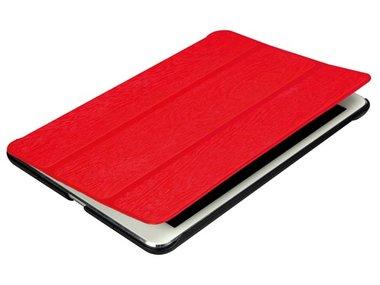 BESCHERMHOES MET INTELLIGENTE COVER EN ELASTISCHE BAND VOOR APPLE iPAD MINI - ROOD KUNSTLEER (PCMP200R)