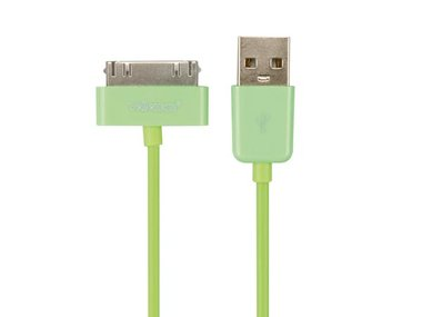 APPLE® 30-POLIG (MANNELIJK)  NAAR USB A (MANNELIJK) - GROEN - 1 m (PCMP66G)