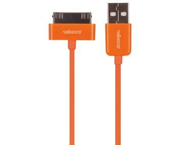 KABEL USB A MANNELIJK naar APPLE® 30-PINS MANNELIJK - ORANJE - 1 m (PCMP66O)