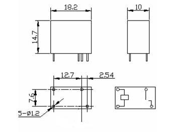 DIL RELAIS 7A/120VAC 1 x FORM A 24VDC (VR7D241A)