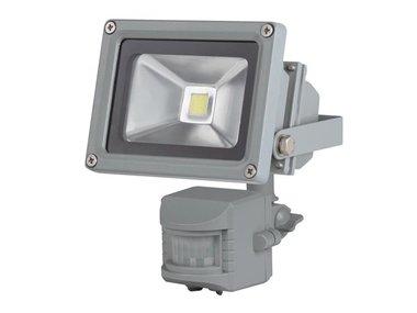 LED-SCHIJNWERPER VOOR BUITENSHUIS MET PIR-SENSOR - 10 W EPISTAR CHIP - 3000 K (LEDA3001WW-GP)