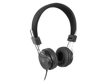 EWENT - OPVOUWBARE ON-EAR HOOFDTELEFOON - ZWART (EM3573)