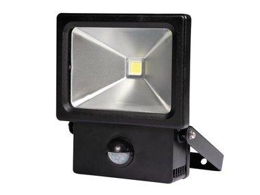 LED-SCHIJNWERPER VOOR BUITENSHUIS MET PIR-SENSOR - 10 W - NEUTRAALWIT (LEDA2001NW-BP)